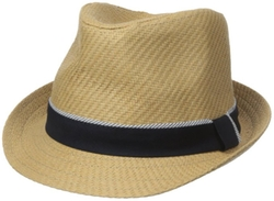 Men's Straw Fedora Hat by Sperry in Mad Dogs