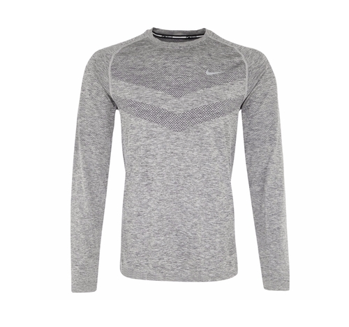Dri-FIT Knit Long-Sleeve Shirt by Nike in Creed