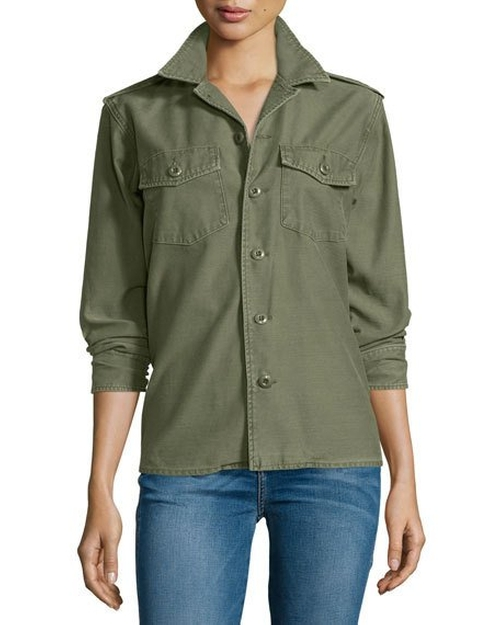 Major Cotton Shirt Jacket by Kate Moss For Equipment in Into the Forest