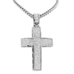 Large Hip Hop Cross Necklace by My Daily Styles in Zoolander 2