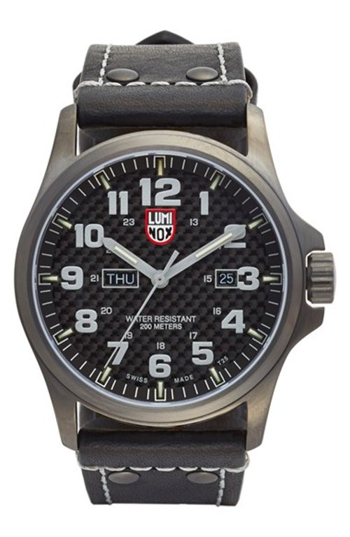 'Land - Atacama Field' Leather Strap Watch by Luminox in Couple's Retreat