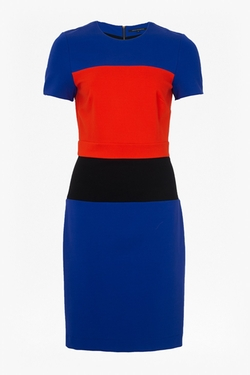 Lula Colour Block Dress by French Connection in The Flash
