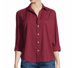 Long-Sleeve Button-Front Blouse by Frank & Eileen in New Girl