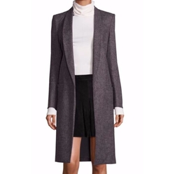 Kylie Long Shawl-Collar Coat by Alice + Olivia in Quantico