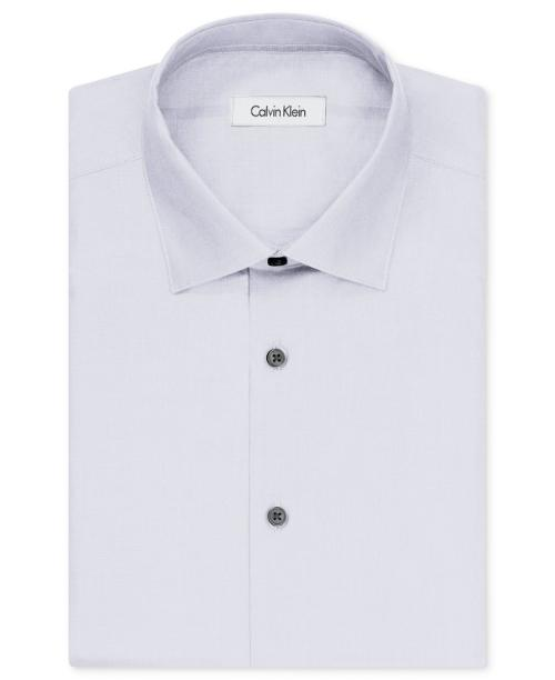 Liquid Cotton Solid Dress Shirt by Calvin Klein in Savages