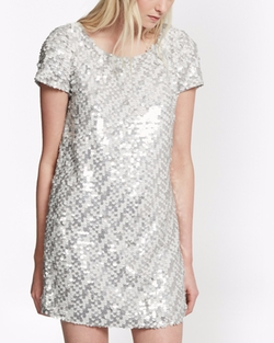 Snow Sequins Tunic Dress by French Connection in Fuller House