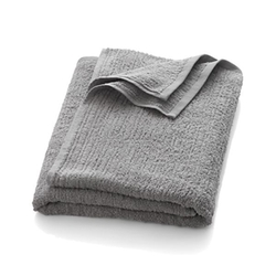 Ribbed Grey Bath Sheet by Crate & Barrel in The Martian