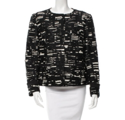 Collarless Printed Jacket by Piazza Sempione in The Good Fight