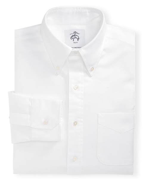 Black Fleece Button-Down Oxford Shirt by Brooks Brothers in Demolition