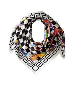 Multicolor Square Scarf by Versace Collection in Empire