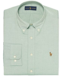 Solid Pinpoint Oxford Dress Shirt by Ralph Lauren in Love the Coopers