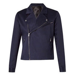 Lux Blue Twill Biker Jacket by Topman in Pretty Little Liars