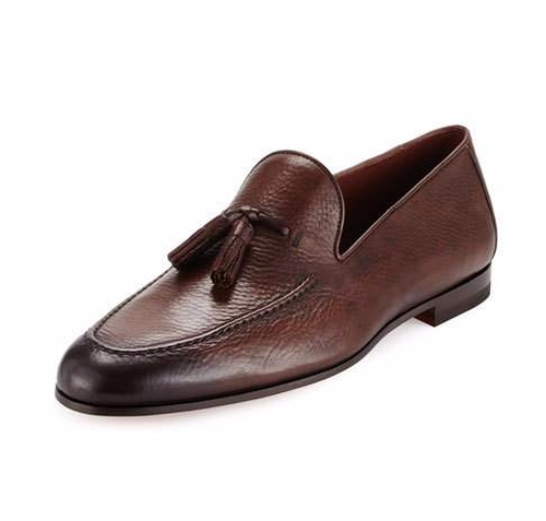 Pebbled Leather Tassel Loafers by Magnanni for Neiman Marcus in Office Christmas Party