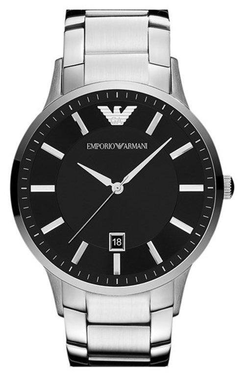Classic Round Bracelet Watch by Emporio Armani in Vice