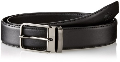 Men's Premium Leather Metal Croc Belt by Lacoste in The Gift