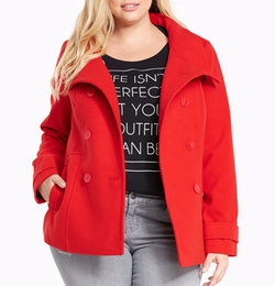 Double Breasted Peacoat by Torrid in Pitch Perfect 3
