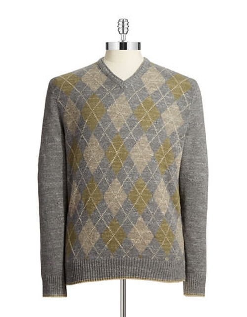 Rupert Evans Black Brown 1826 Cotton Argyle Sweater from The Boy ...