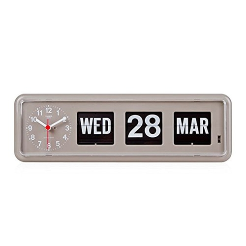 Retro Modern German Quartz Calendar Wall Flip Clock by Twemco in Master of None - Season 1 Episode 9