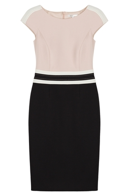 Cap Sleeve Colorblock Sheath Dress With Banded Trim by Paule Ka in The Blacklist