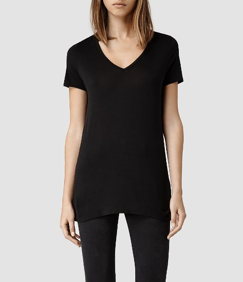 Malin Silk T-Shirt by Allsaints in The Town