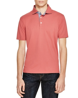 Patina Chambray Polo Shirt by Brooks Brothers in The Flash