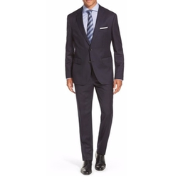 Johnstons Classic Fit Wool Suit by Hugo Boss in Jason Bourne