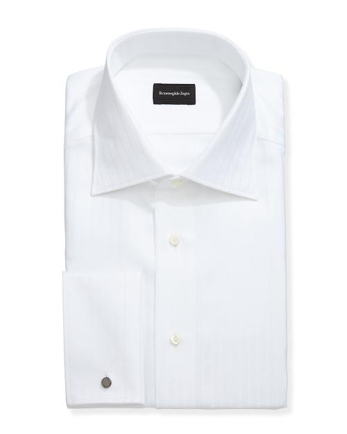 Wide-Stripe French-Cuff Dress Shirt by Ermenegildo Zegna in The Other Woman