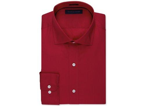 Solid Poplin Dress Shirt by Tommy Hilfiger in The Gunman