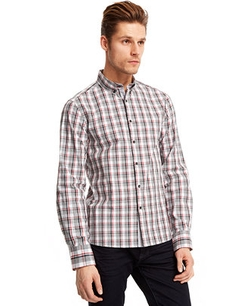 Slim-Fit Plaid Shirt by Kenneth Cole New York in Wet Hot American Summer