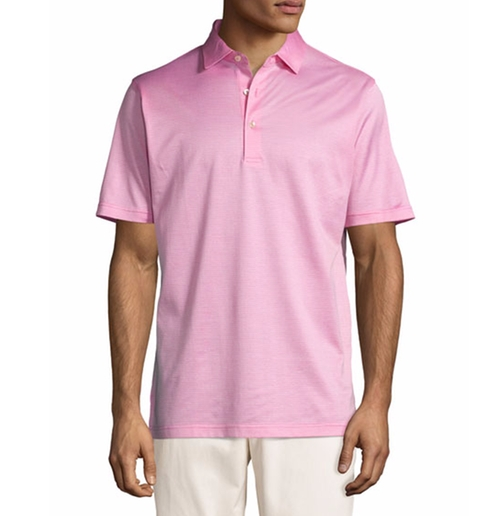 Fran Jacquard Cotton Lisle Polo Shirt by Peter Millar in Bastards