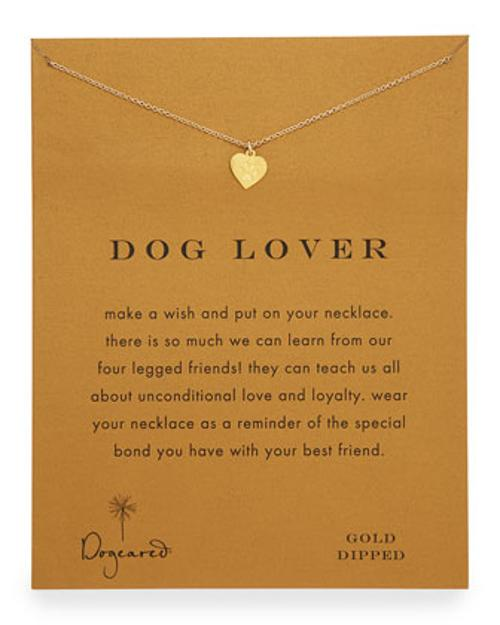 Dog Lover Gold-Dipped Necklace by Dogeared in What If