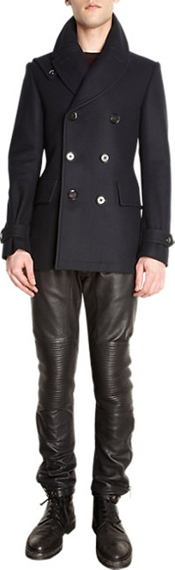 Brentwood Double-Breasted Peacoat by Belstaff in Arrow