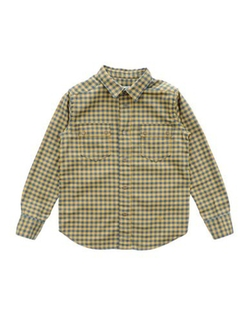 Check Shirt by Mauro Grifoni Kids in Black-ish
