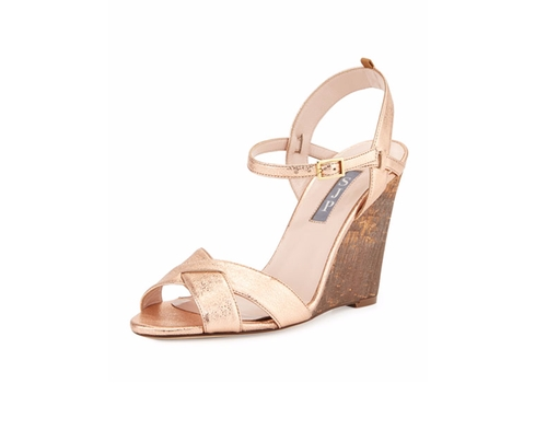 Davies Metallic Wedge Sandals by SJP by Sarah Jessica Parker in Keeping Up with the Joneses