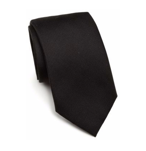Solid Silk Tie by Saks Fifth Avenue Collection in Fist Fight