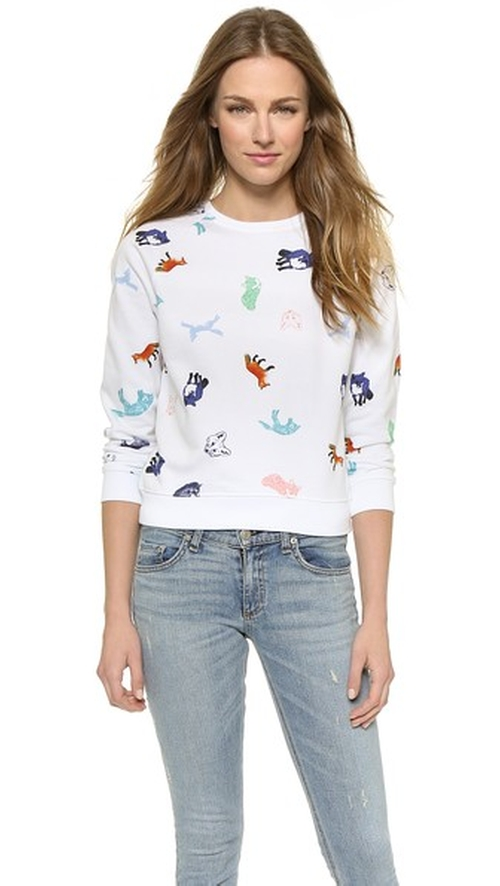 Childish All Over Sweatshirt by Maison Kitsuné in The Intern