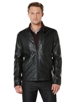 Faux Leather Bomber Jacket by Perry Ellis in Scandal