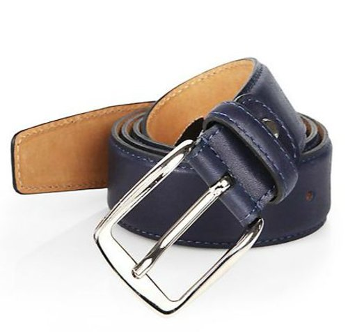 Calfskin Leather Belt by Isaia in Need for Speed