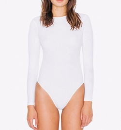 Cotton Spandex Long Sleeve Classic Bodysuit by American Apparel in Keeping Up With The Kardashians