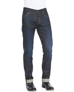 Slim Straight Raw Selvedge Jeans by Rag & Bone in Pitch Perfect 2
