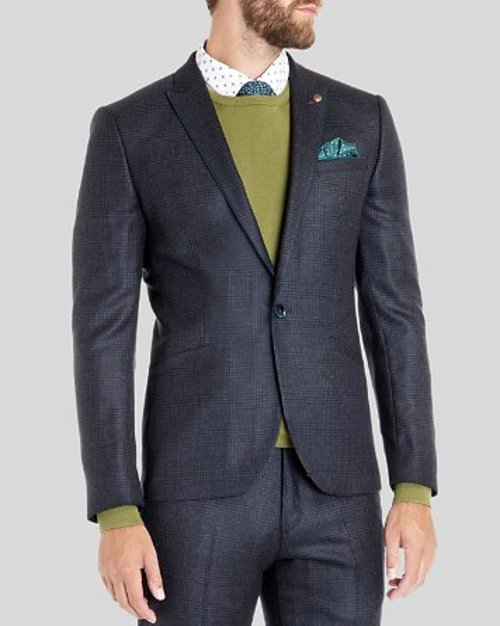 Hordor Wool Check Blazer by Ted Baker in Run All Night