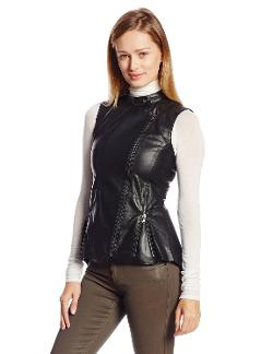 Women's Nichole Leather Vest by Kenneth Cole New York in The Expendables 3
