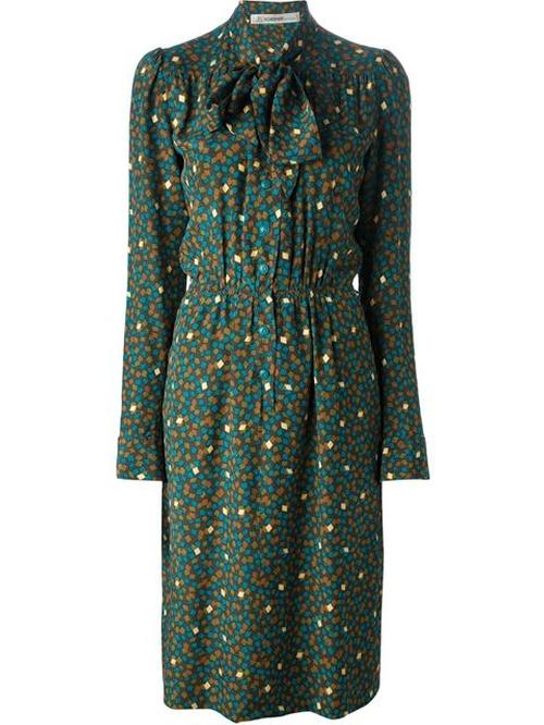 70s Printed Dress by Jean Louis Scherrer Vintage in Brooklyn