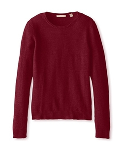 Long Sleeve Crewneck Sweater by Cashmere Addiction in Arrow