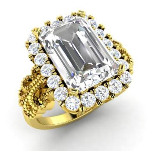 Emerald-Cut White Topaz Ring by Diamondere in The Other Woman