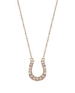 Double Sided Diamond Horseshoe Necklace by BETTINA JAVAHERI in Vampire Academy