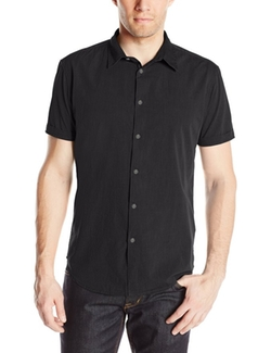 Men's Short Sleeve Button Front Shirt by John Varvatos Star USA in Pretty Little Liars