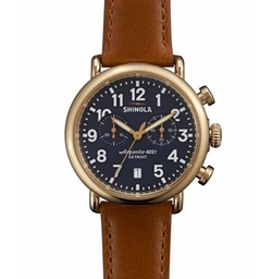 Runwell Chronograph Watch by Shinola in Rosewood