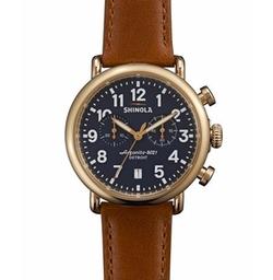Runwell Chronograph Watch by Shinola in Rosewood