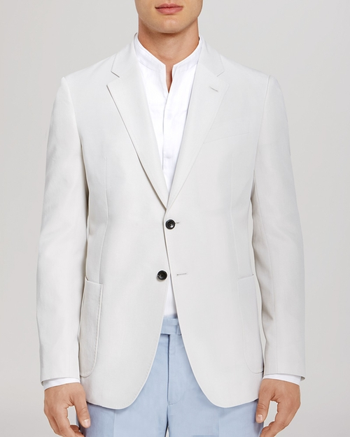 Linen Blend Blazer by Armani Collezioni in The World is Not Enough
